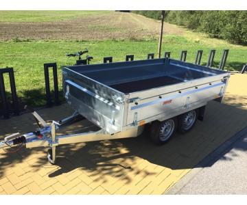 Bržděný dvouosý přívěsný vozík na 1500 kg (263x145)