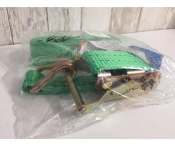 Upínací pásy s háky a ráčnou (4m - 2 tuny)