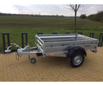 Multifunkční bržděný přívěsný vozík ZASLAW 205 SUH (205x122)